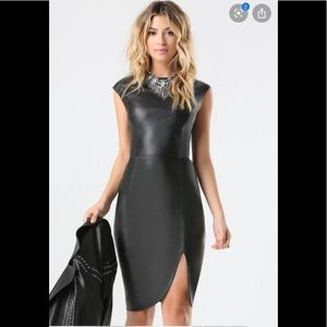 Faux leather Bebe midi dress